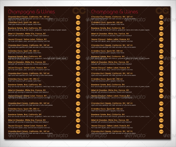 Sample Italian Menus  Psd Vector Eps