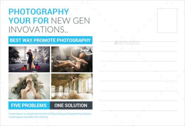 photography studio postcard template