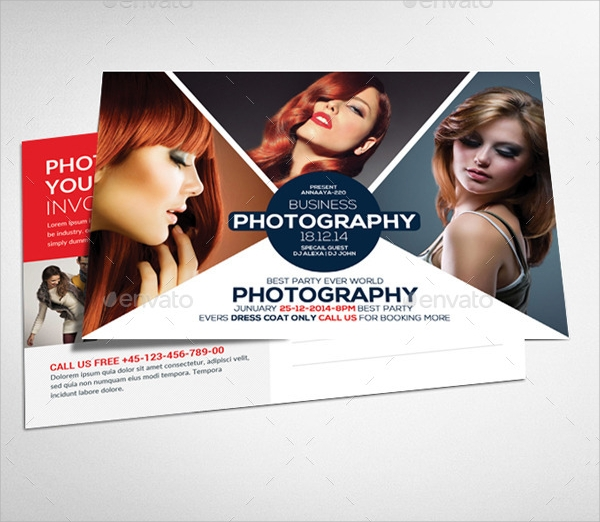 photography business postcard