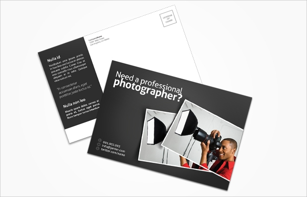 photography postcard template psd