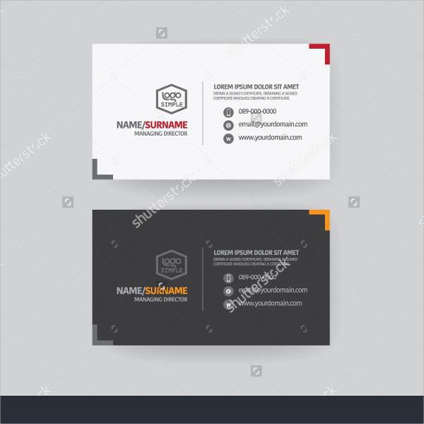 modern business name card