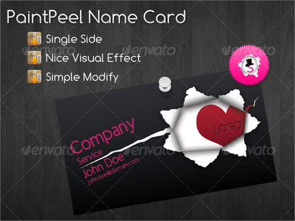 trendy name card