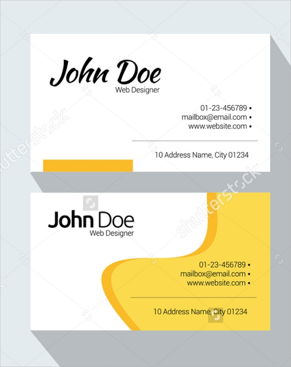 8 Sample Name Cards PSD Vector EPS – Sample of Name Card