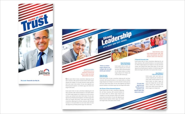 election brochure template psd