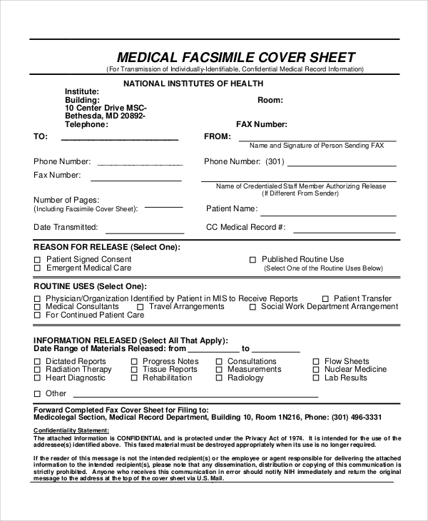 Sample Confidential Fax Cover Sheet   Documents In Word Pdf