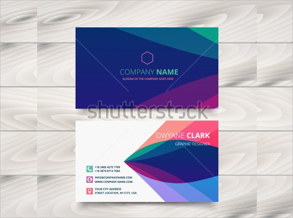 purple colored visiting card