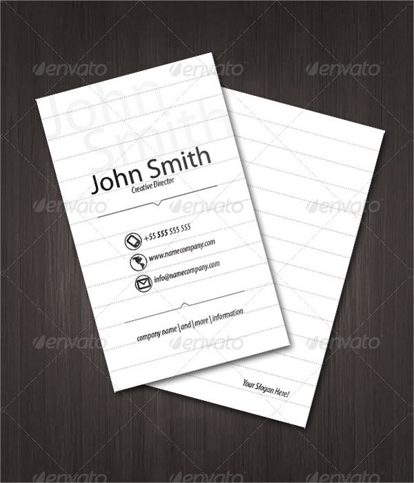 paper visiting card