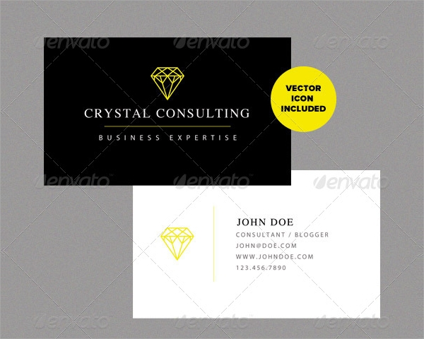 consulting visiting card