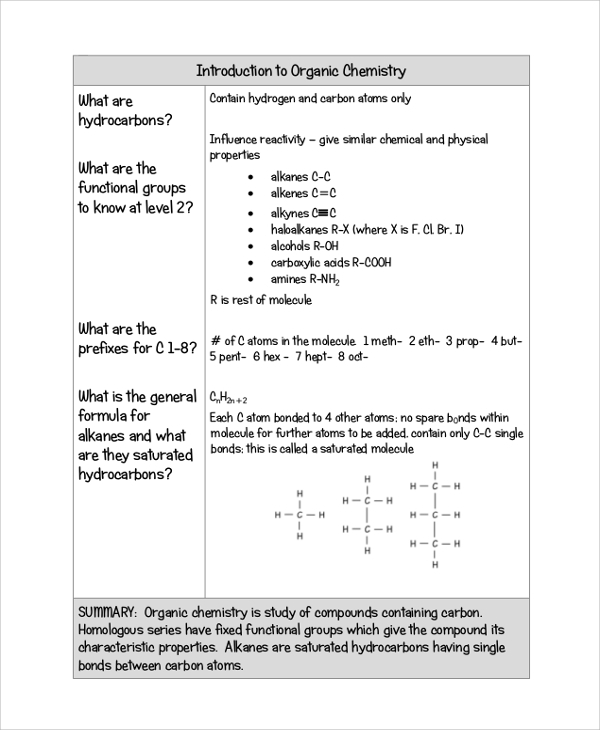 Sample Cornell Note - 19+ Documents in PDF, Word