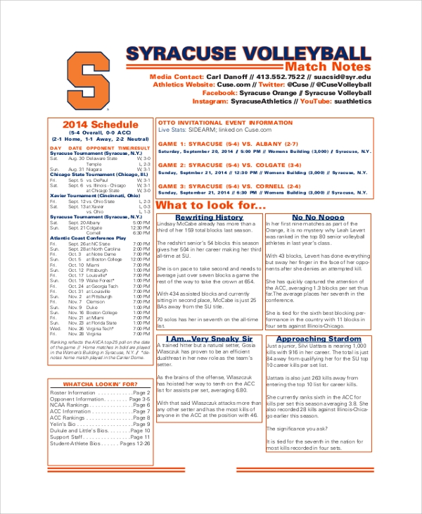 volleyball cornell note