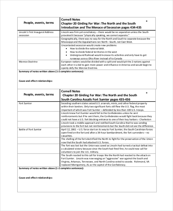 civil war cornell note