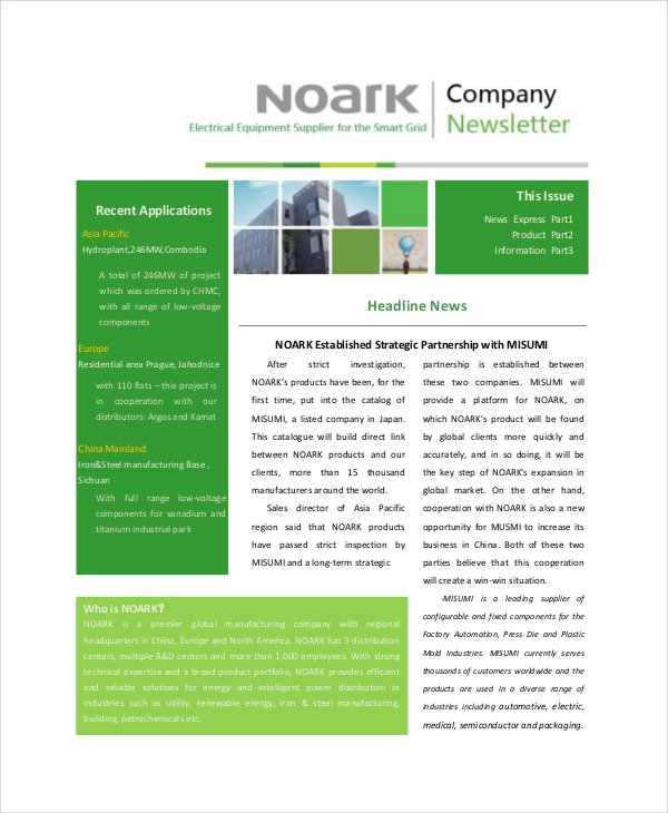 basic company newsletter