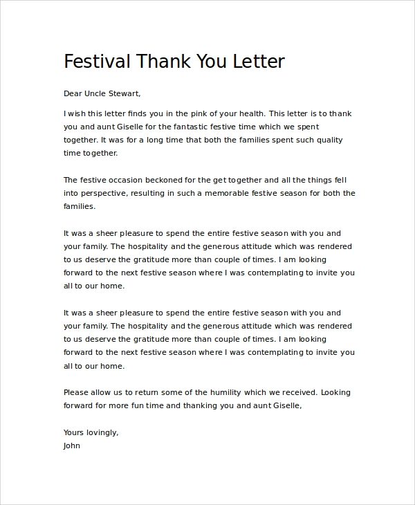 Thank You Letter To Family Member from images.sampletemplates.com