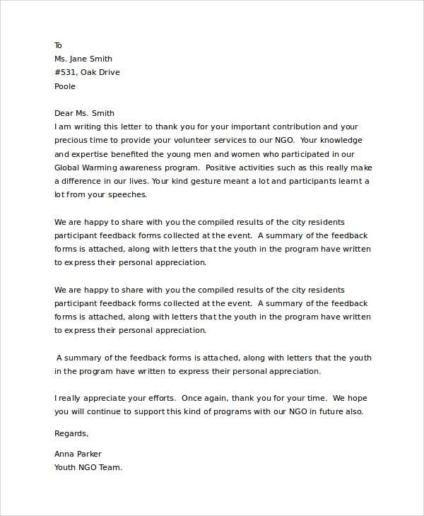 Personal Thank You Letter from images.sampletemplates.com