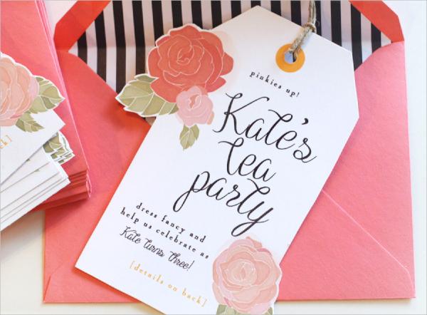 awesome tea party invitation