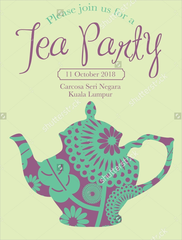amazing tea party invitation template