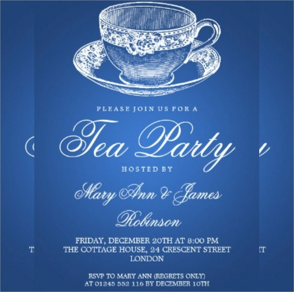 vintage tea party invitation1
