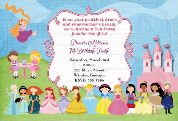 22  sample tea party invitations