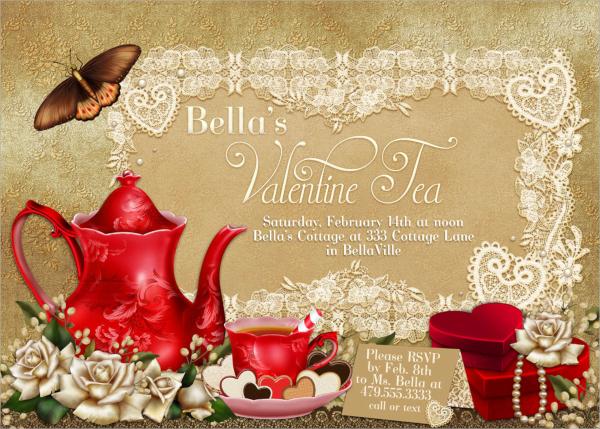 valentine tea party invitation