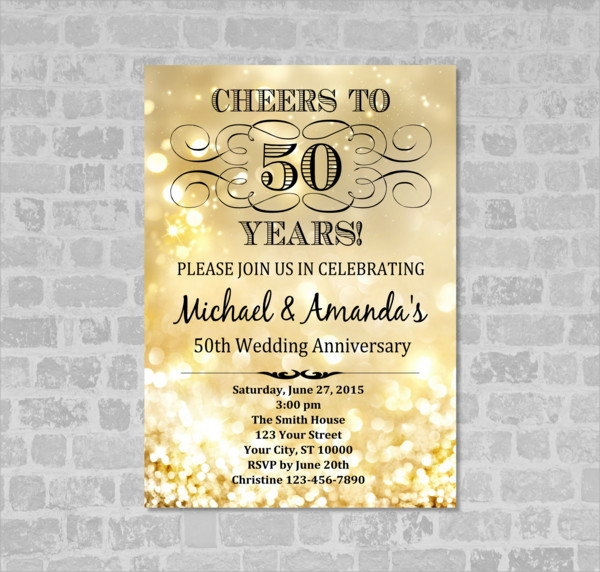 Sample Anniversary Invitations  Psd Vector Eps
