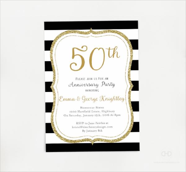 simple anniversary invitation