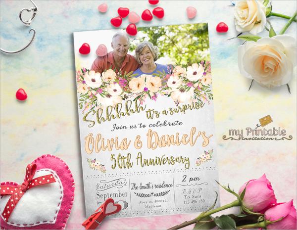 surprise anniversary invitation