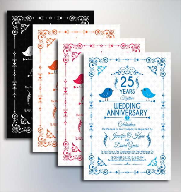 amazing anniversary invitation