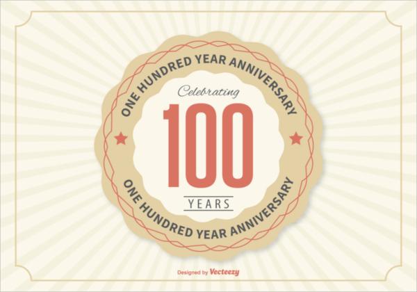 100 year anniversary invitation