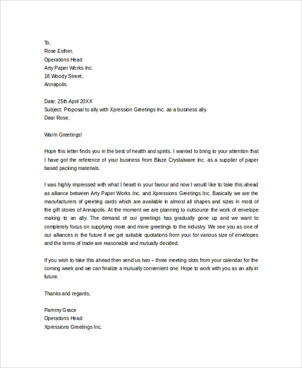 Business Letter Salutation Marketing Business Letter