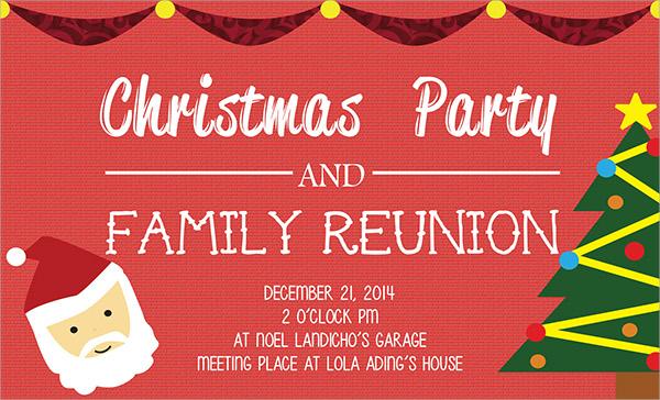 simple family reunion invitation