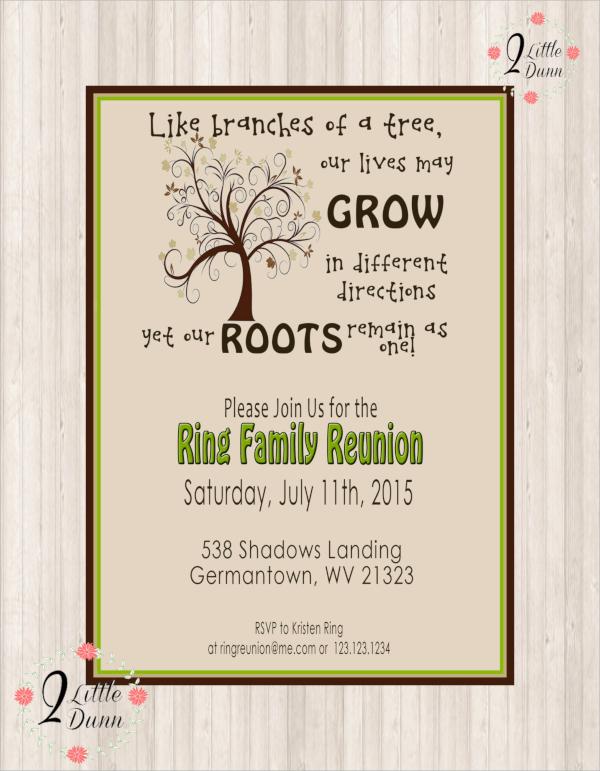 amazing family reunion invitation