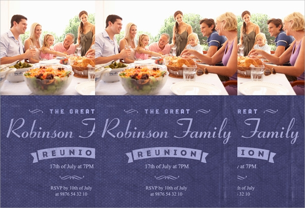 Sample Family Reunion Invitations  Psd Vector Eps