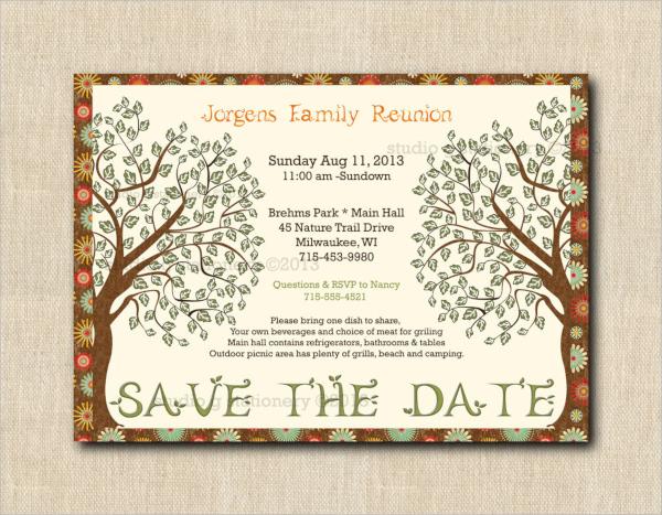 handmade family reunion invitation