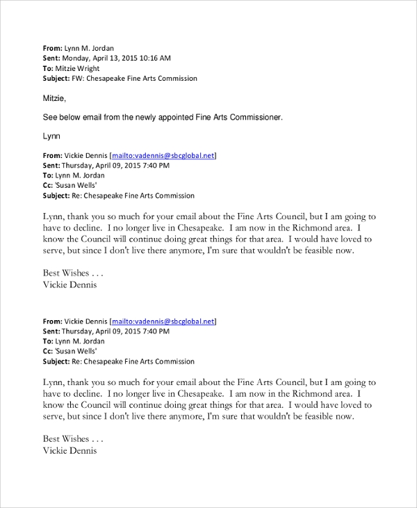 resignation letter format through email 7 sample email resignation letters sample templates 13361