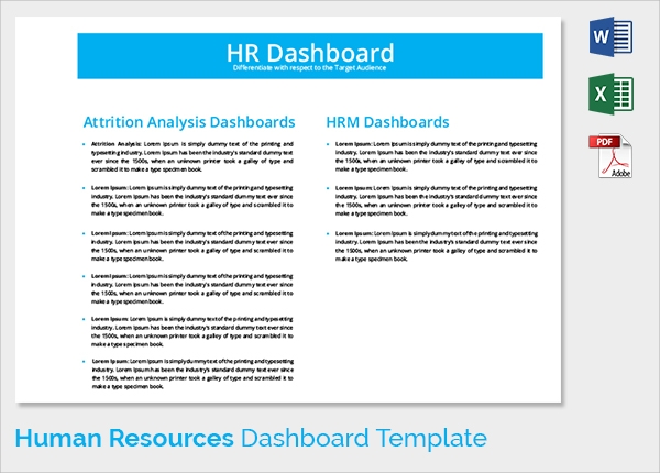 Hr Management Dashboard Template on financial dashboard examples