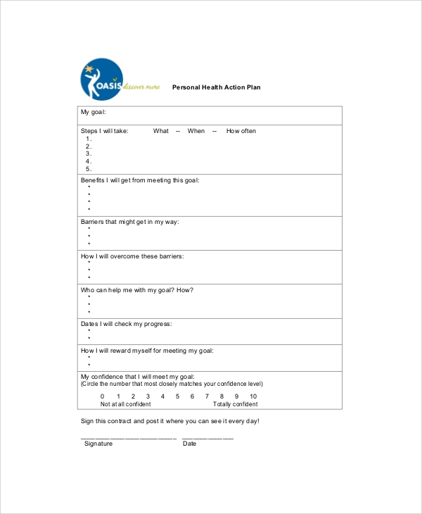 Sample Personal Action Plan 7 Documents In PDF Word – Sample Personal Action Plan
