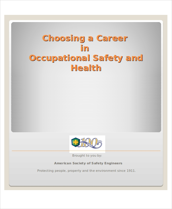 safety and health professional presentation