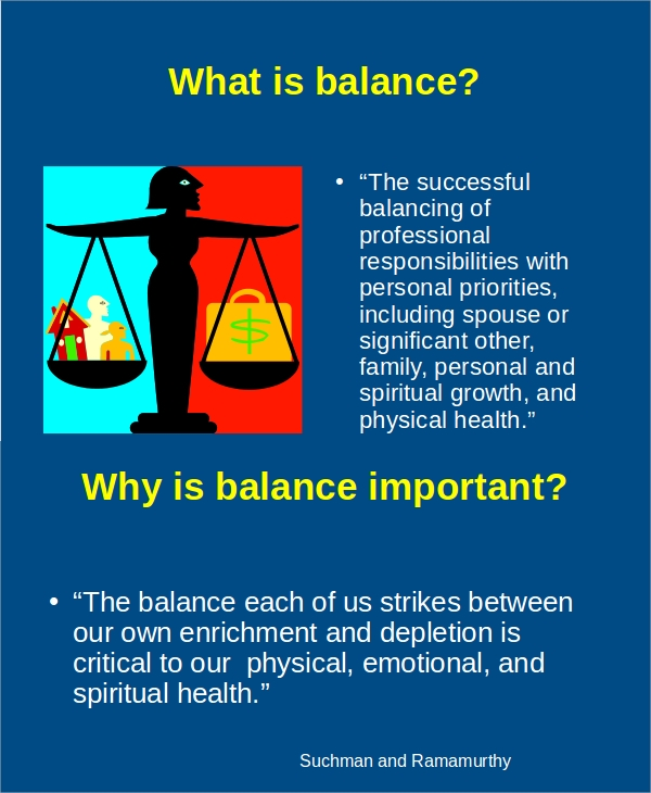 personal professional balance presentation