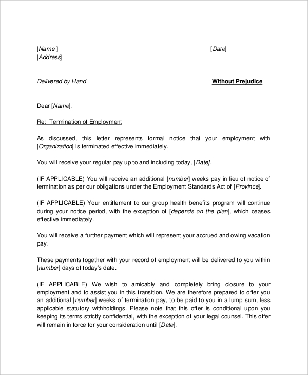 Letter To Employer After Being Fired from images.sampletemplates.com