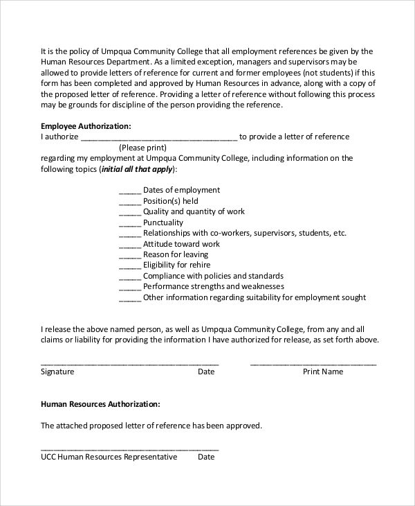 Sample employee reference letter 5 documents in pdf word employee authorization reference letter spiritdancerdesigns Image collections