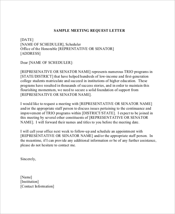 Sample formal request letter 8 documents in pdf word formal meeting request letter thecheapjerseys Image collections