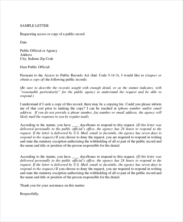 Formal Letter Requesting Grude Interpretomics Co