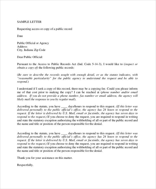 Formal letter format request 12 formal letter format sample of request financial spiritdancerdesigns Image collections