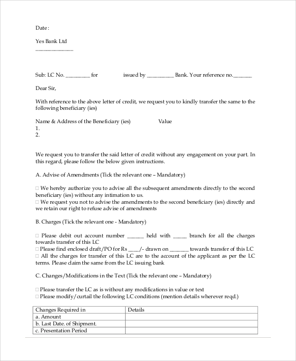 request letter for transfer of assignment