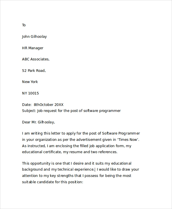 Letter requesting job etamemibawa letter requesting job sample altavistaventures