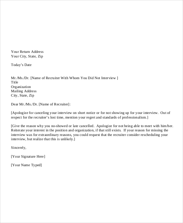 Sample Personal Apology Letter   Documents In Pdf Word