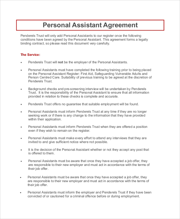 Superb Personal Assistant Confidentiality Agreement