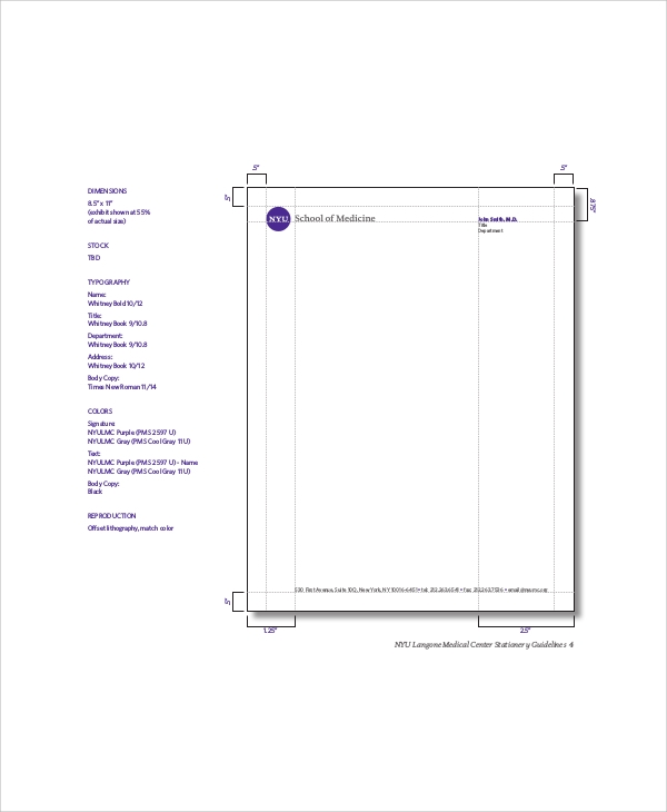 Personal Letterhead Sample 5 Documents in PDF – Personal Letterhead Template