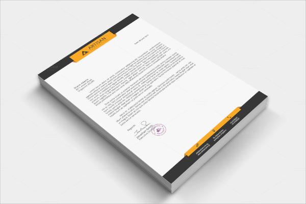 corporate letterhead format