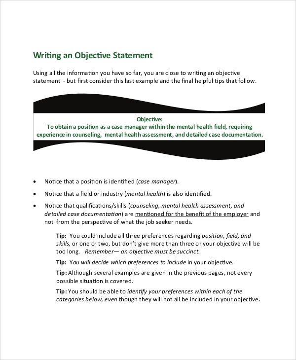 Resume Career Objective Statement  Objective Statements Resume